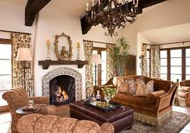 Living Room With Spanish Style Furniture Pieces