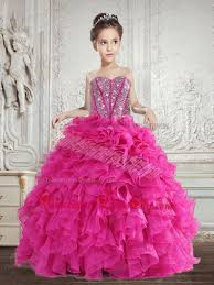 selling beading and ruffles little pageant dress in