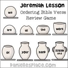 Jeremiah The Potter And Clay Bible Crafts Activities