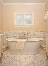 stand alone tubs in bathroom traditional with faux travertine