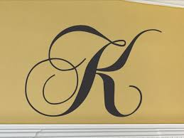 Letter K Wall Decor Cool Monogram Letters For Wall Single