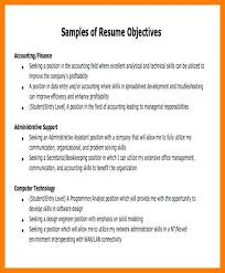 Career Objective Sample For Resumejob Objective Examples For