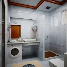 washing machine in small bathroom placement ideas