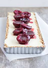 Find This Pin And More On Kuchen Tartes Ricottacheesecake With Baked Plum