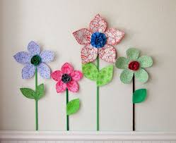 3d Flower Wall Decor Girls Room Decal Fabric Flowers Lavender