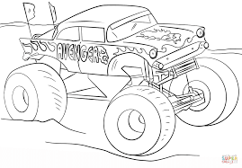 Avenger Monster Truck Coloring Page Free Printable Pages And Trucks ...