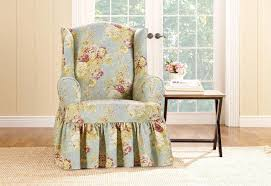 Ballad Bouquet By Waverly One Piece Wing Chair Slipcover ... Leather Office Chair Cover Beandsonsco View Photos Of Executive Office Chair Slipcovers Showing 15 Melaluxe Cover Universal Stretch Desk Computer Size L Saan Bibili Help Gloves Shihualinetm Cloth Pads Removable Gallery 12 20 Size Washable Arm Slipcover Rotating Lift Covers Chairs Without Arms Ikea Ding Room Slipcover Eleoption Seat High Back Large For Swivel Boss Lms C Best With Lumbar Support Small
