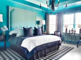 bedroom royal blue master bedroom decor ideas with black iron