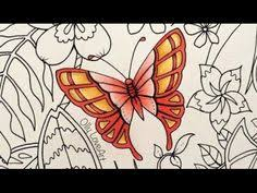 How I Color Butterflies In The Magical Jungle Coloring Book Youtube