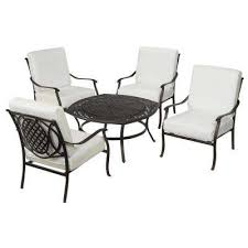 Patio Furniture Conversation Sets With Fire Pit by Belcourt Outdoor Lounge Furniture Patio Furniture The Home Depot
