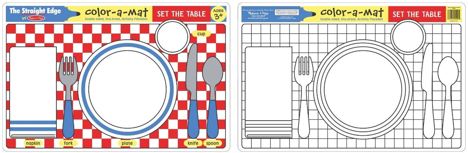 Melissa and Doug Set the Table Colour-A-Mat