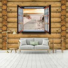 details zu vlies fototapete strand meer fensterblick holzoptik wohnzimmer ostsee bretter