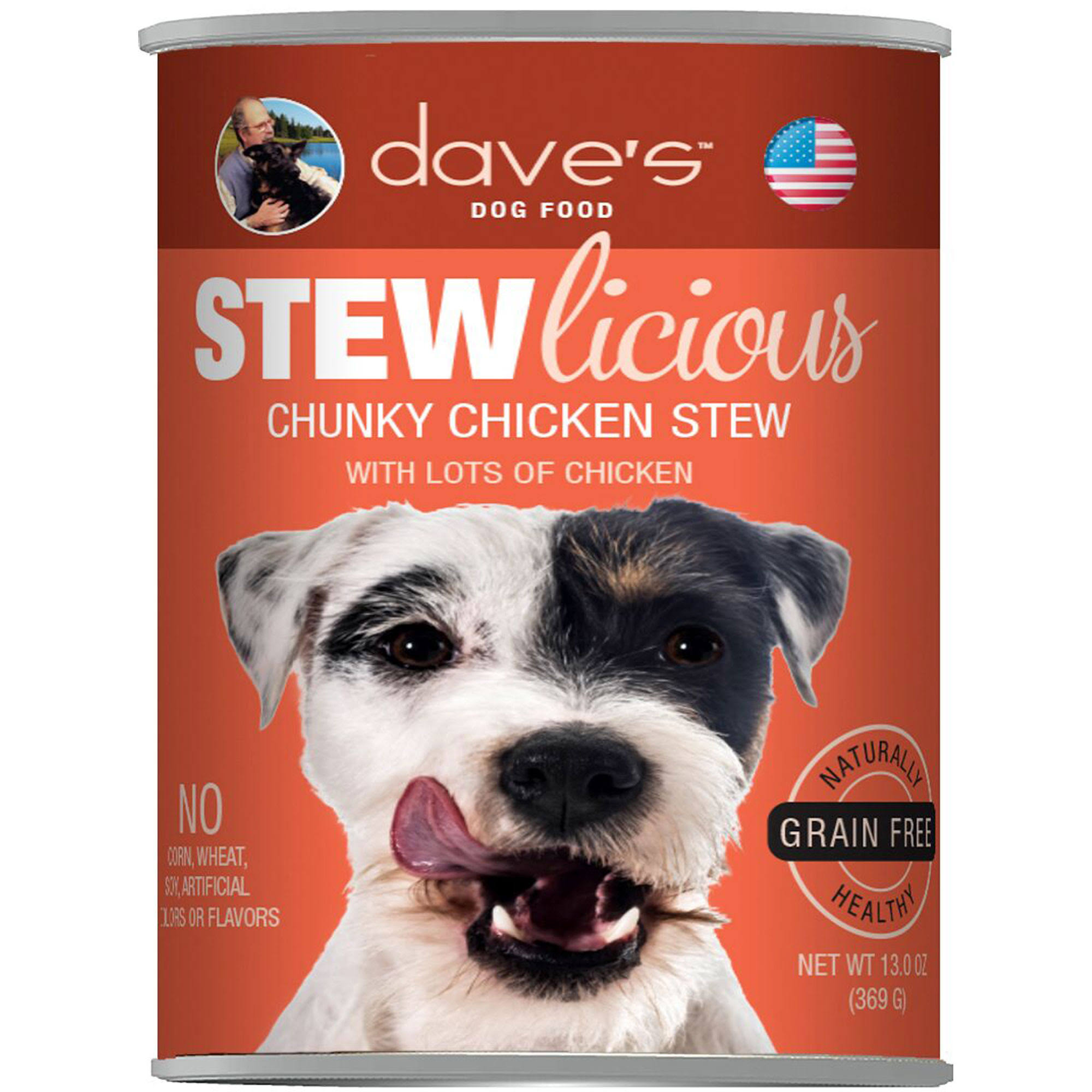 Dave's Stewlicious Chunky Chicken Stew Canned Dog Food - Can
