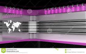 Tv Studio Pink Backdrop For TV Shows News Room Stock