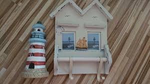 maritime deko handtuchhalter windlicht badezimmer deko