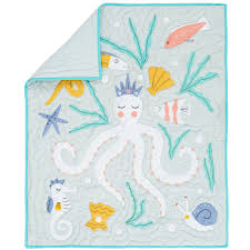 Little Mermaid Crib Bedding by Marine Queen Baby Quilt The Land Of Nod