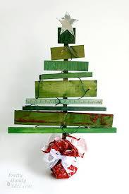 Scrap Wood Christmas Tree Table Top Decor Used RIT Dye