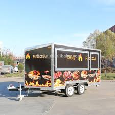 Mobile Food Trailer Catering Truck Snack Trailer With Generator ...
