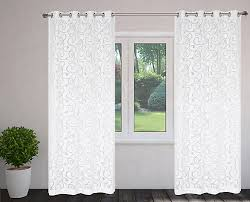 Thermalogic Curtains Home Depot by Lj Home Fashions Mystic Organza Scroll Burnout Grommet Curtain