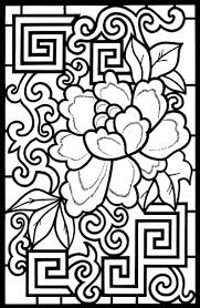 Chinese Designs Stained Glass Coloring Book 1