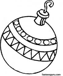 Printable A Bauble Decorating Christmas Tree Coloring Page