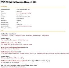 Halloween Havoc 1999 Card by Mark Can U0027t Watch U2013 The Blog Where I Review Things I U0027ve Seen In Pro