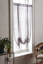 plum bow chloe gauze draped window shade decorating the home