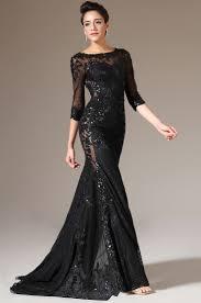 black lace evening dresses kzdress