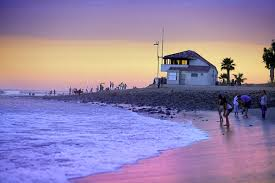 Beach Night In Los Angeles California USA