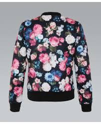 krisp bold floral print bomber jacket krisp from krisp clothing uk