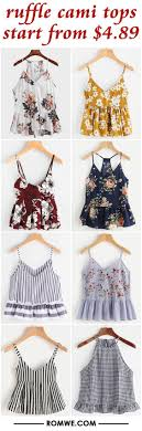 Ruffle Cami Tops From $4.89 #romwe #romweclothing #dresses ... Fashion Coupons Discounts Promo Coupon Codes For Grunt Style Coupon Code 2018 Mltd Free Shipping Cpap Daily Deals Romwe Android Apk Download Romwe Deck Shein Code 90 Off Shein Free Shipping Puma Canada Airborne Utah Coupons Zaful Discount 80 Student Youtube Black Friday 2019 Ipirations Picodi Philippines