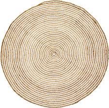 outdoor teppiche rund geflochten für garten oder balkon