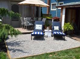 Backyard Makeover Pea Gravel Patio Red Cottage Chronicles Simple ... Exterior Design Beautiful Backyard Landscaping Ideas Plan For Lawn Garden Pleasant Japanese Rock Go With Gravel For A You Never Have To Mow Small Stupendous Modern Gardens Garden Design Coloured Path Easy Backyards Winsome Decorative Design Gardening U The Beautiful Pathwaysnov2016 Gold Exteriors Magnificent Patio With Rocks And Stones