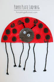 Paper Plate Ladybug Simple Spring Kids Craft