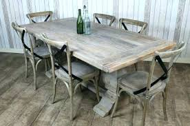 Grey Dining Room Table Distressed Gray Wood Ideas