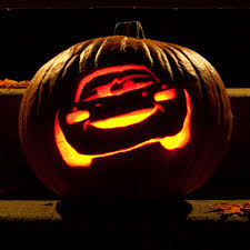 Easy Mike Wazowski Pumpkin Carving Template by Lightning Mcqueen Pumpkin Carving Template Lightning Mcqueen