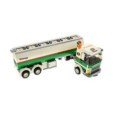 100 Lego Tanker Truck 1 X Brick 60016 White Green Octan For Set