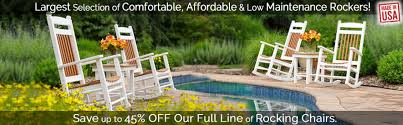 Premium Poly Patios Millersburg Oh by Buy Polywood Rocker Furniture Premium Poly Patios