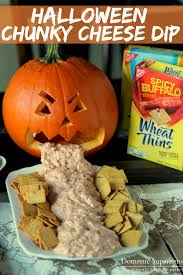 Pumpkin Guacamole Throw Up Buzzfeed by Halloween Chunky Cheese Dip With Wheat Thins Chips Veggies Or