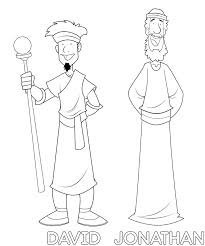 Jonathan And David Coloring Pages Free Of Mephibosheth