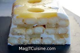 dessert avec des boudoirs cake à l ananas et aux boudoirs le de magjtcuisine