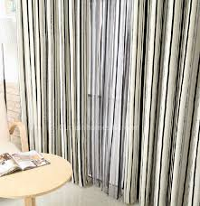 Black And White Striped Curtains by Striped Linen And Cotton Black And White Patterned Curtains