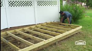 Floor Joist Spacing Shed by How To Build A Shed Step By Step Youtube