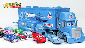 Learning Special Disney Lightning McQueen Blue Truck Color Names And ...