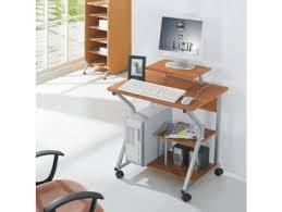 ordinateur de bureau compact bureau d ordinateur compact avec roulettes hêtre trademos