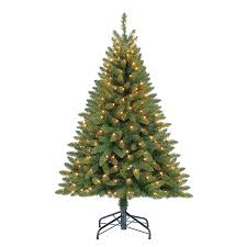 Pre Lit Flocked Christmas Tree Canada by Shop Artificial Christmas Trees At Lowes Com