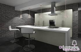eclairage plan de travail cuisine suspension béton un luminaire brut de décoffrage 01