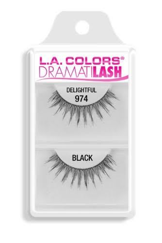 L.A. Colors Dramatilash False Eyelashes - Delightful/Black, 1pk