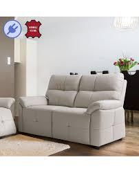 canapé cuir relax canapé cuir contemporain relaxation électrique 2 ou 3 places