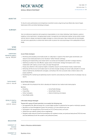 Social Media Strategist - Resume Samples And Templates ... Social Media Manager Resume Lovely 12 Social Skills Example Writing Tips Genius Pdf Makeover Getting Riley A Digital Marketing Job Codinator Objective 10 To Put On Letter Intern Samples Velvet Jobs Luxury Milton James Template Workbook Package Ken Docherty Computer For Examples Floatingcityorg Write Cover Career Center Usc